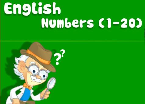 İngilizce sayılar 1-20