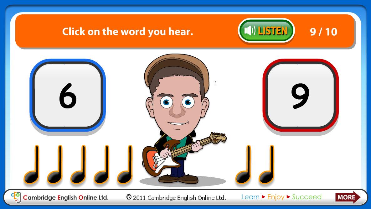 İngilizce Sayılarla Müzik Yapma