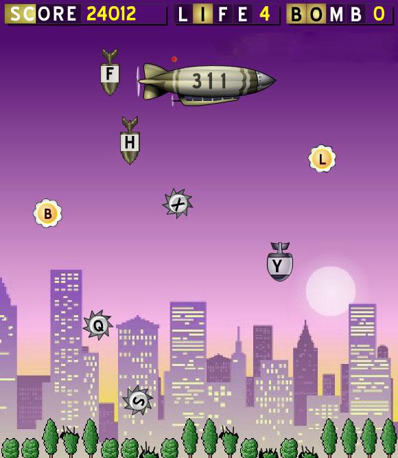 Alfabe Bombardımanı Oyunu