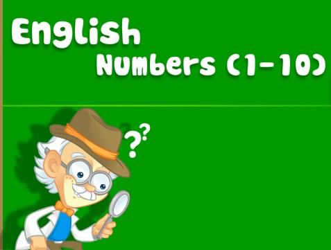 İngilizce Sayılar 1-10